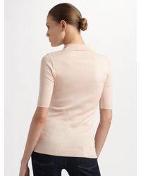 Ralph Lauren Black Label - Pink Cotton Elbow Sleeve Polo - Lyst