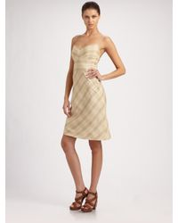 Ralph Lauren Black Label | Natural Winifred Plaid Dress | Lyst