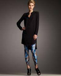 Alexander McQueen | Blue Koi-print Leggings | Lyst