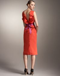 Carolina Herrera | Orange Origami-back Dress | Lyst