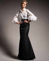 Carolina Herrera | White Origami-sleeve Shirted Gown | Lyst