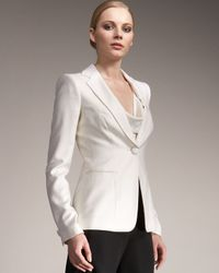 Giorgio Armani | White One-button Tuxedo Jacket | Lyst