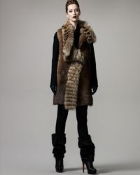 J. Mendel | Brown Natural Fur Gilet | Lyst