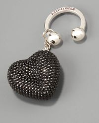 Judith Leiber | Heart N Soul Key Ring, Black | Lyst