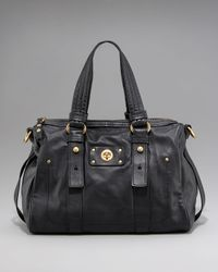 Marc By Marc Jacobs - Black Totally Turnlock Shifty Leather Satchel - Lyst