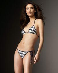 MILLY   White Sailboat-print String Bikini Top   Lyst