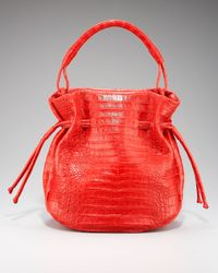 Nancy Gonzalez   Red Crocodile Drawstring Bag   Lyst