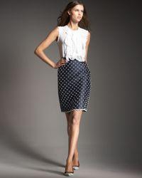 Oscar de la Renta - Blue Beaded-circle Skirt - Lyst