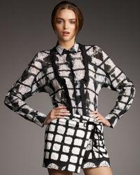 Proenza Schouler | Black Patterned Blouse | Lyst