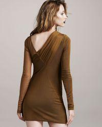Rag & Bone | Blue Edita Sheer-overlay Dress | Lyst