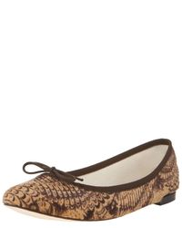 Repetto | Brown Ballerina Shoes | Lyst