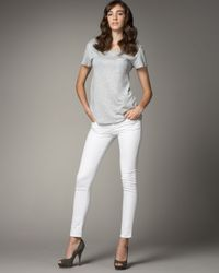 Rock & Republic | White Posey Twill Skinny Ankle Jeans | Lyst