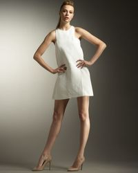 Stella McCartney | White Sleeveless Crepe Shift Dress | Lyst