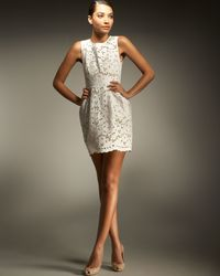 Stella McCartney | White Dewberry Cotton Lace Dress | Lyst