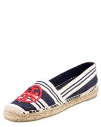 Tory Burch | Blue Striped Canvas Espadrilles | Lyst