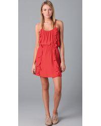 Parker | Orange Solid 2 Ruffle Dress | Lyst