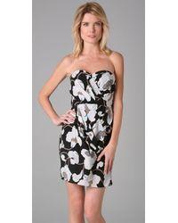 Tibi - Black Bianca Strapless Dress - Lyst
