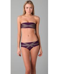 VPL | Purple Bandage Bikini Top | Lyst