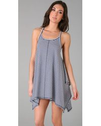 OndadeMar | Gray Asymmetrical Cover Up Dress | Lyst