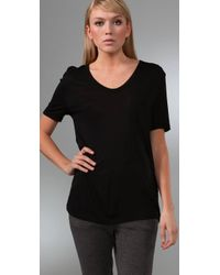 T By Alexander Wang | Black Classic T Shirt with Pocket | Lyst