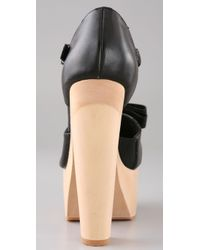 Opening Ceremony | Black Mary Jane Platform Clogs | Lyst