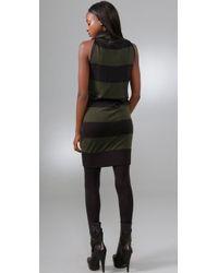 L.A.M.B. - Black Chevron Stripe Dress - Lyst
