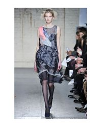 Michael van der Ham | Blue Sleeveless Patchwork Dress | Lyst