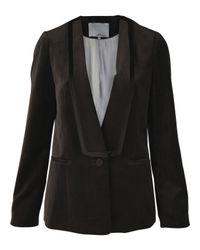 3.1 Phillip Lim | Gray Dark Grey Velvet Tuxedo Jacket | Lyst