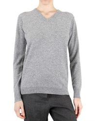 Beayukmui | Gray Cashmere Knit Crystal Sweater | Lyst