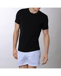 Calvin Klein | Black 365 Crew Neck Two Pack T–shirt for Men | Lyst