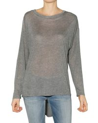 Enza Costa | Gray Thin Jersey Top | Lyst