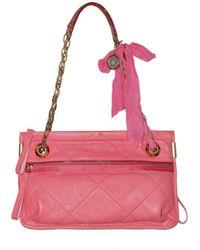 Lanvin | Pink Quilted Amalia Lambskin Shoulder Bag | Lyst