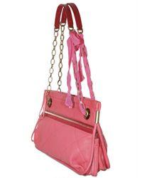 Lanvin - Pink Quilted Amalia Lambskin Shoulder Bag - Lyst