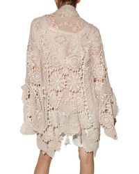 Mes Demoiselles | Natural Crochet Cardigan | Lyst