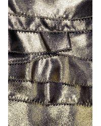 Nathan Jenden | Metallic Enid Silk-lamé Top | Lyst