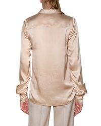 Stella McCartney - Pink Washed Satin Shirt - Lyst