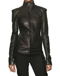 Todd Lynn - Black Double Stretch Cotton and Leather Jacket - Lyst