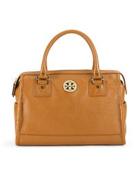 Tory Burch | Brown Anna Satchel | Lyst