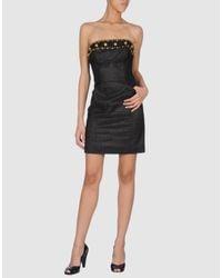 Badgley Mischka - Black Short Dress - Lyst