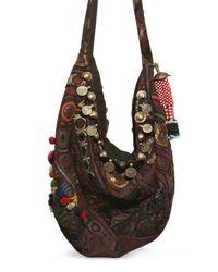 Simone Camille | Brown Original Vintagefabricbeads Shoulder Bag | Lyst