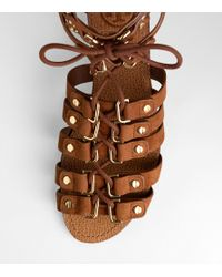 Tory Burch | Brown Ames Lace Up Sandal | Lyst