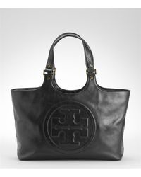 Tory Burch | Black Bombe Burch Tote | Lyst