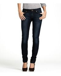 Tory Burch | Blue High Waisted Denim Legging | Lyst