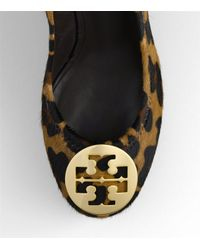 Tory Burch - Natural Sally Leopard Print Wedge - Lyst