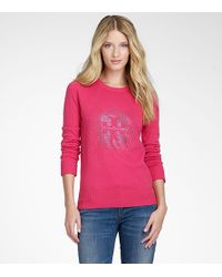 Tory Burch | Pink Vika Logo Sweater | Lyst