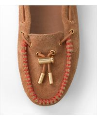 Tory Burch - Orange Hailey Suede Flat - Lyst