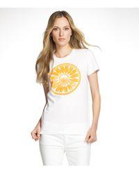 Tory Burch - White Foundation T Shirt - Lyst