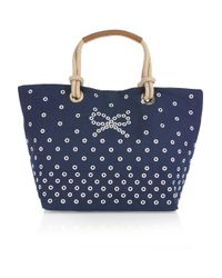 Anya Hindmarch | Blue Junie Canvas Tote | Lyst