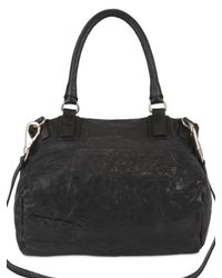 Givenchy | Black Pandora Medium Texture Washed Top Handle | Lyst