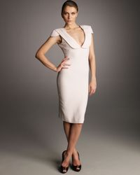 Alexander McQueen - Pink Pencil Dress, Rose - Lyst